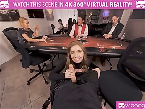 VRBangers.com-Busty stunner is pulverizing hard in this agent